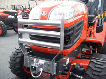 Grill Guard Receiver Hitch Combo for Kubota BX Series Tractors
