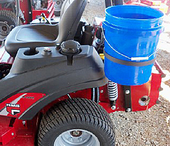 Zero Turn Mower Trash Bucket Holder