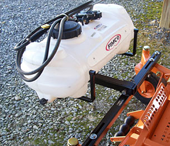 Zero Turn Mower Sprayer Attachment